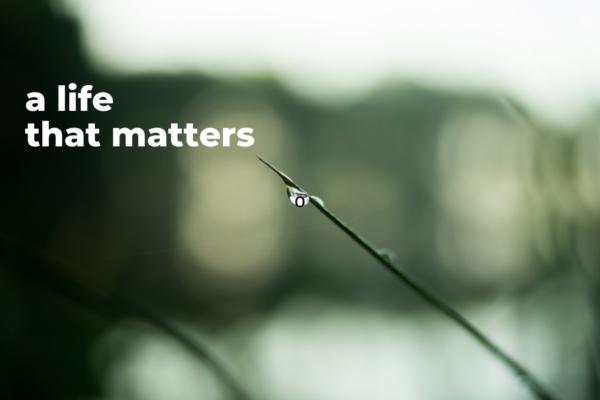 A Life that Matters | Sermons Categories | NRCC Downtown
